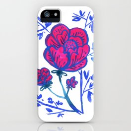 Rose and Japanese Tree iPhone Case