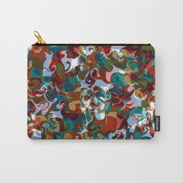 FETE various shapes pale blue gold red abstract design Carry-All Pouch