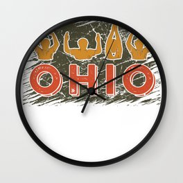 Ohio State TShirt Cute Proud To Be Ohioan Letters Root Gift Wall Clock