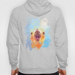 Rise and Shine, Kitty - colorful cat illustration Hoody