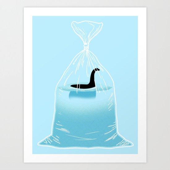Loch Ness Golden Fish Art Print