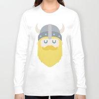 viking Long Sleeve T-shirts featuring Viking by Beardy Graphics