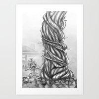hi jack .... thats the bean stalk!!! Art Print