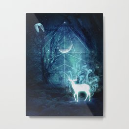 Patronus Woods Metal Print