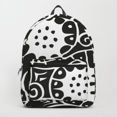 Black and White Swirl Pattern Backpack