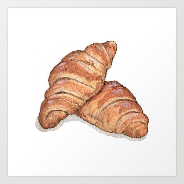 Breakfast & Brunch: Croissants Art Print