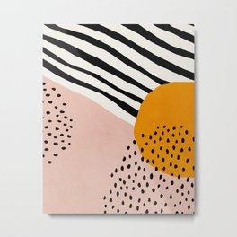 Abstract, Mid century modern art Metal Print
