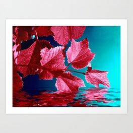 red wine IX Art Print
