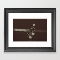raised hands Framed Art Print