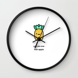 JUST A PUNNY PINEAPPLE JOKE! Wall Clock