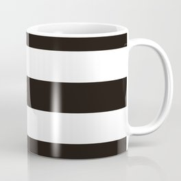 Black raspberry - solid color - white stripes pattern Coffee Mug