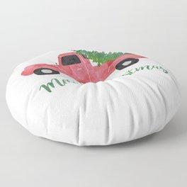 Christmas Tree Shopping Floor Pillow