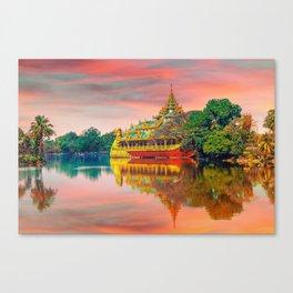 Yangon, Myanmar #society6 #decor #buyart Canvas Print