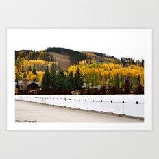 Bridge to a Cabin Art Print