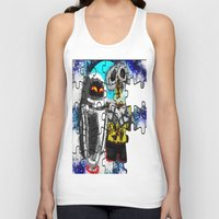 wall e Tank Tops featuring Puzzle me Wall-e  by grapeloverarts