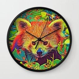 AnimalColor_RedPanda_001_by_JAMColors Wall Clock