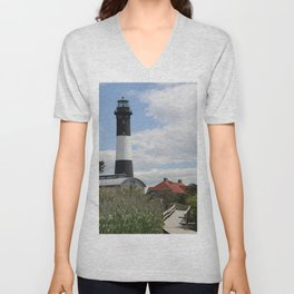 Walkway To Fire Island Lighthouse Unisex V-Neck