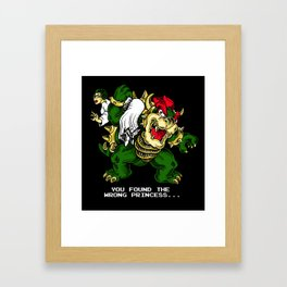 wrong princess. Framed Art Print