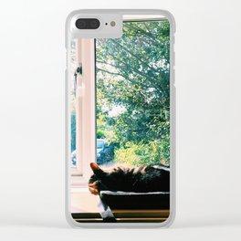 Cat Nap Clear iPhone Case
