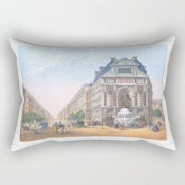 Paris Decor office decoration vintage decor FONTAINE St MICHEL of Paris Rectangular Pillow