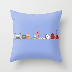 Back to the Future - Iconic Props Throw Pillow