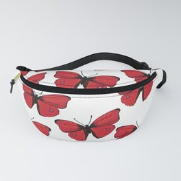 Red butterfly Spring Art Fanny Pack