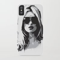 kate moss iPhone & iPod Cases featuring Kate Moss by Joanna Theresa Heart