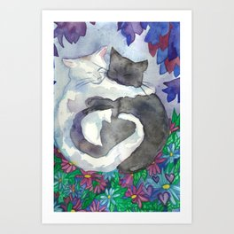 Cats With Soft Hearts Art Print