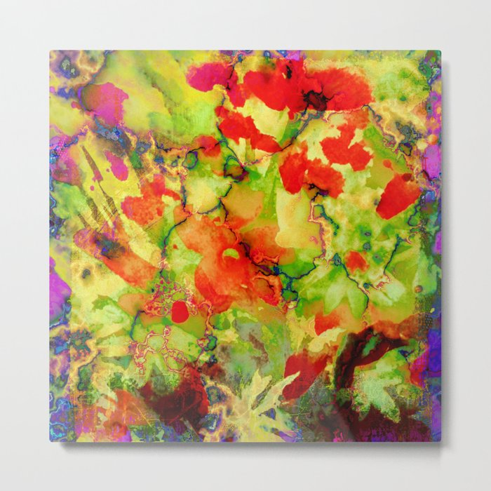 floral and textures Metal Print