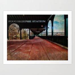 Poughkeepsie Station Pavilion  Art Print