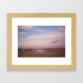 Glamping Framed Art Print