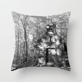 The church on the grounds Throw Pillow