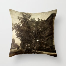 Washington Street Scene Throw Pillow