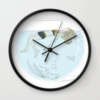 jamaica Wall Clocks featuring Jamaica Dreaming by NewSketchbook