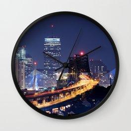 Driving to Boston Wall Clock