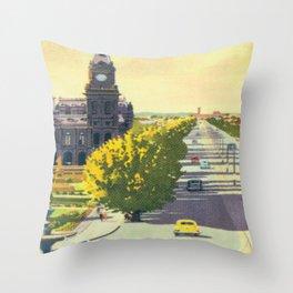Bendigo, Australia Vintage Travel Poster Throw Pillow
