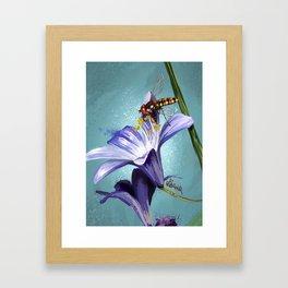 Wasp on flower 11 Framed Art Print