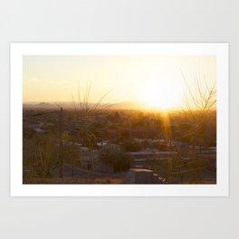 Suburban Desert Sunrise Art Print