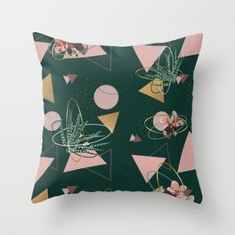 Succulents Atoms #society6 #decor #buyart Throw Pillow