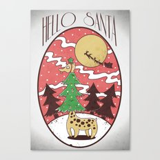 Hello Santa Canvas Print