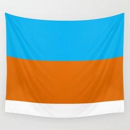 Square Tri-Color [Blue, Orange, White] Wall Tapestry
