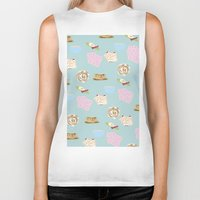 breakfast Biker Tanks featuring Breakfast by LISACYO