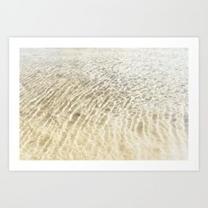 Beach Ripples Art Print