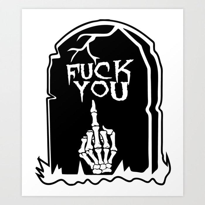 Mean Grave Kunstdrucke
