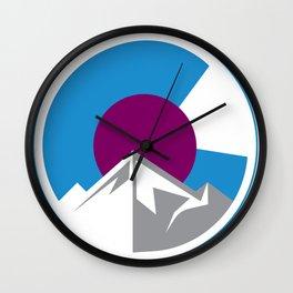 Colorado Crest Wall Clock