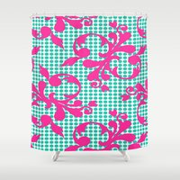 dot Shower Curtains featuring Dot by Closed For Winter
