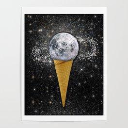 MOON ICE CREAM Poster