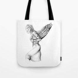 Greek Medusa Statue Tote Bag