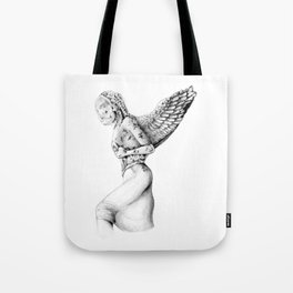 Greek Medusa Statue Tote Bag