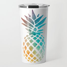 Watercolor Pineapple Travel Mug